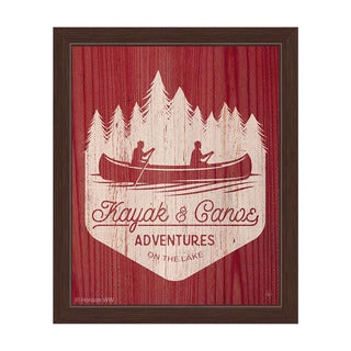 'Kayak and Canoe Adventures - Warm' Framed Graphic Wall Art