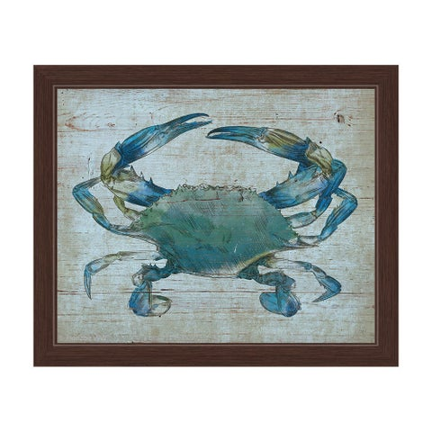 'Blue Crab' Framed Graphic Wall Art