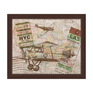 'Map in the Sky' Canvas Framed Graphic Wall Art