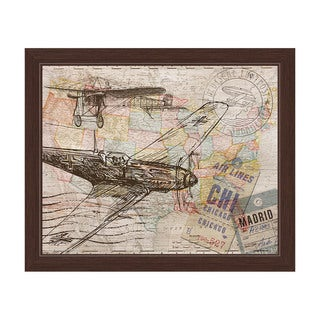 'Map of the Sky' Canvas Framed Graphic Wall Art