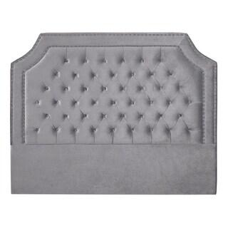 Tufted Velvet Upholstered Nailhead Headboard