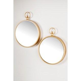 Loop Goldtone Mirrors (Set of 2)