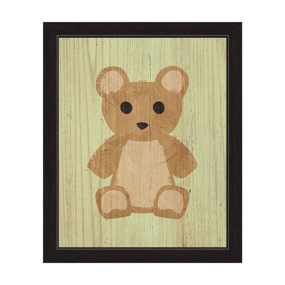 "'Teddy Bear Summer' Framed Graphic Wall Art (16"" x 20"" x ..."
