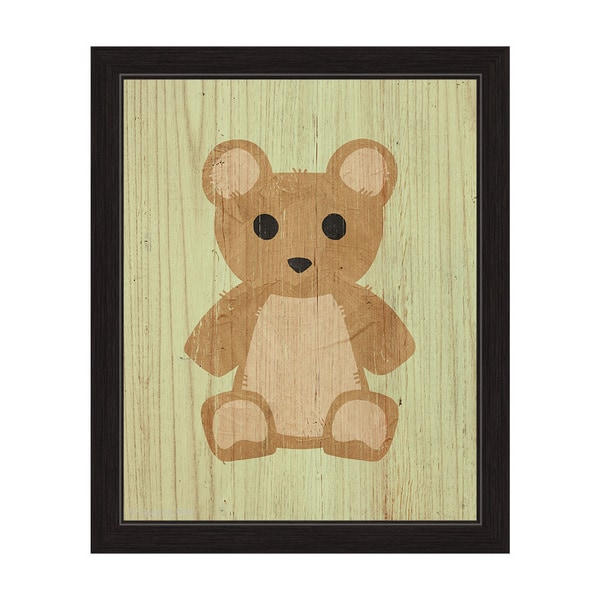 Teddy Bear Summer\' Framed Graphic Wall Art - Free Shipping Today ...