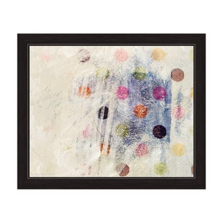 'Dot Party Indigo' Framed Graphic Wall Art