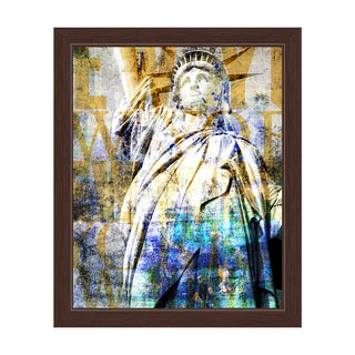 'Goddess Libertas' Framed Graphic Wall Art