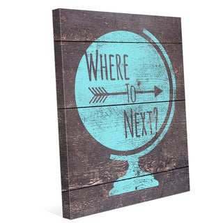'Where to Next' Wall Graphic on Canvas