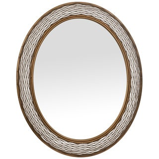 Varaluz Casa Flow Oval Hammered Ore Mirror - Gold