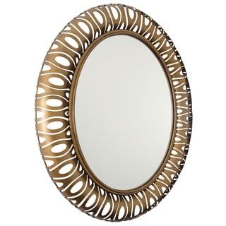 Varaluz Masquerade Hammered Ore Oval Mirror
