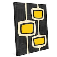 'Retro Yellow Bubble Towers' Wall Graphic on Canvas