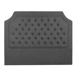 Slate Fabric Button Tufted Headboard