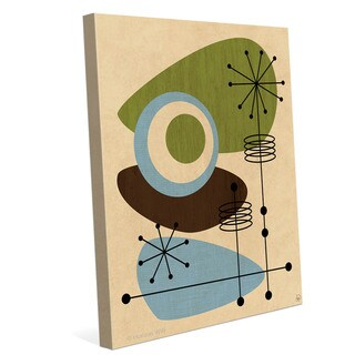 'Retro Green and Blue All Seeing Eye' Canvas Wall Graphic