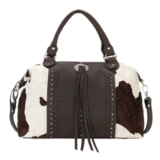 American West Cow Town Leather Satchel