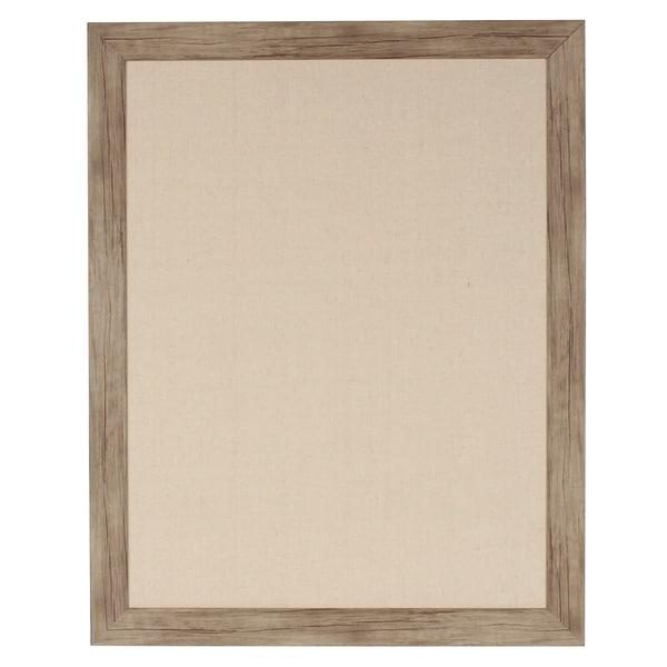 Shop DesignOvation Beatrice Framed Linen Fabric Pinboard - On Sale ...