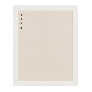 DesignOvation Beatrice Framed Linen Fabric Pinboard (2 options available)