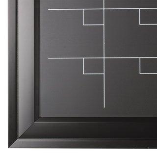 Bosc Black Framed Magnetic Chalkboard Monthly Calendar