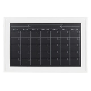 DesignOvation Bosc Framed Magnetic Chalkboard Monthly Calendar (5 options available)