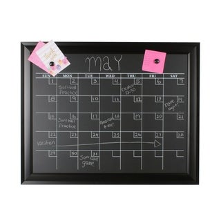 Bosc Black Framed Magnetic Chalkboard Monthly Calendar