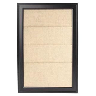 Bosc Framed Burlap Pockets Wall Organization Board