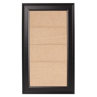 Bosc Framed Burlap Pockets Wall Organization Board