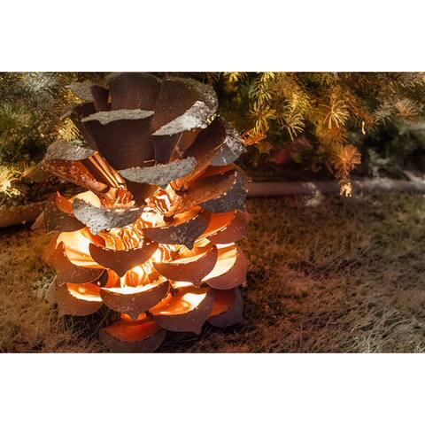 Desert Steel Pinecone Holiday Luminary