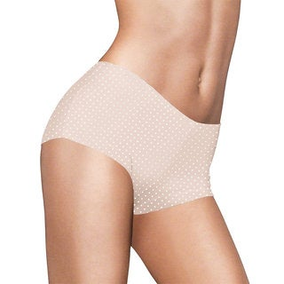 Maidenform Comfort Devotion Women's Shell Ivory Dot Tailored Boyshort