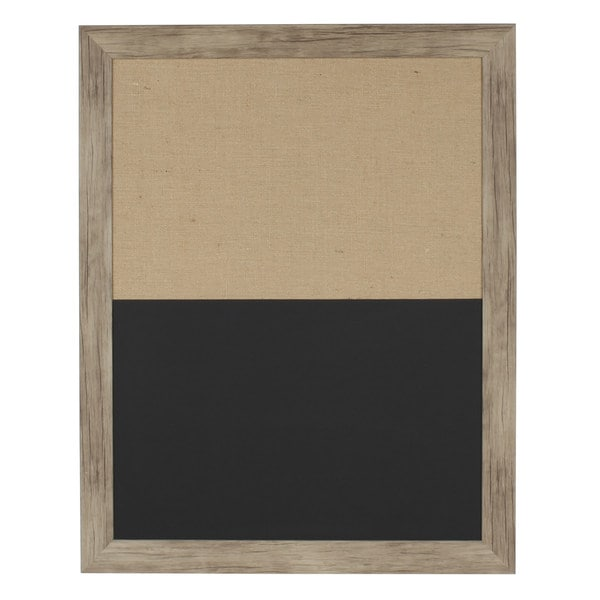 Beatrice Plastic Framed Combination Magnetic Chalkboard and Fabric Pinboard