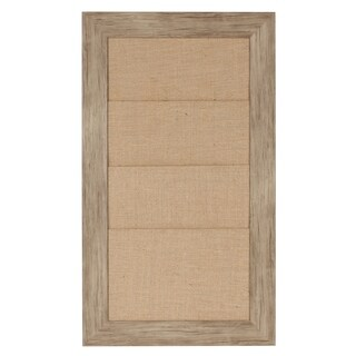 DesignOvation Beatrice Framed Burlap Pockets Wall Organizer