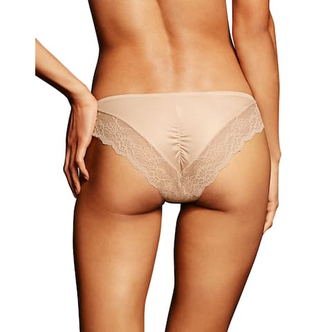 Comfort Devotion Women's Latte Lace-back Tanga Lift Panties
