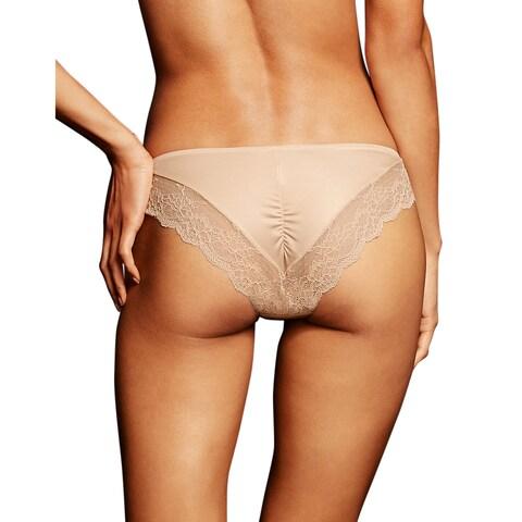 Comfort Devotion Women's Latte Lace-back Tanga Lift Panties