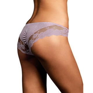 Link to Comfort Devotion Women's Lace Back Tanga Glossy Panties Similar Items in Intimates
