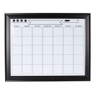 Designovation Bosc Framed Magnetic Dry Erase Monthly Calendar