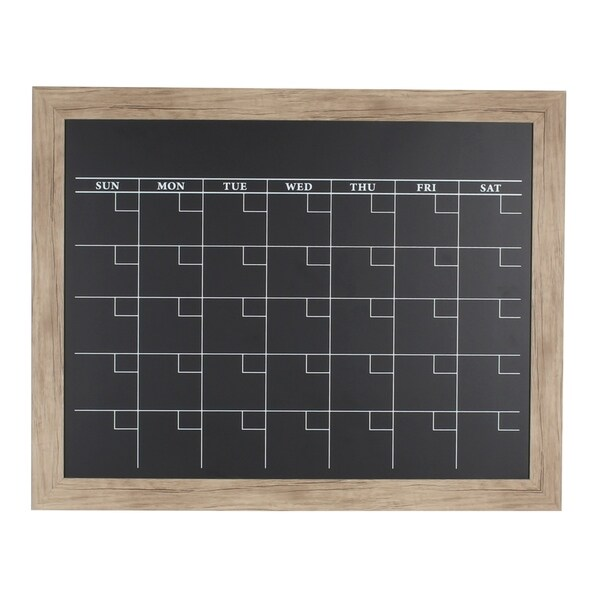 DesignOvation Beatrice Framed Magnetic Chalkboard Monthly Calendar