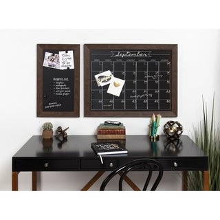 DesignOvation Beatrice Framed Magnetic Chalkboard Monthly Calendar