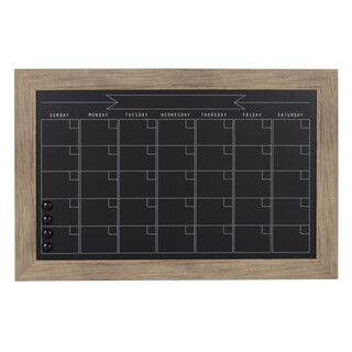 DesignOvation Beatrice Framed Magnetic Chalkboard Monthly Calendar (More options available)