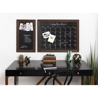 Beatrice Framed Magnetic Chalkboard Monthly Calendar