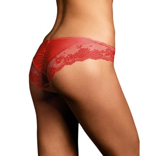 Link to Comfort Devotion Women's Black Lace Tanga Camera Red-y Panties Similar Items in Intimates