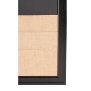 Bosc Framed Combination Magnetic Chalkboard and Burlap Pockets Board