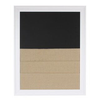 Bosc Framed Combination Magnetic Chalkboard and Burlap Pockets Board (2 options available)