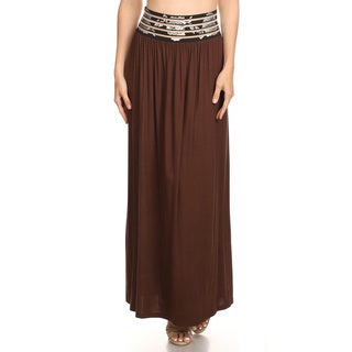 Women's Floral Waistband Maxi Skirt