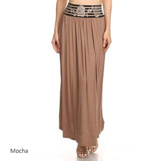 Women's Floral Waistband Maxi Skirt