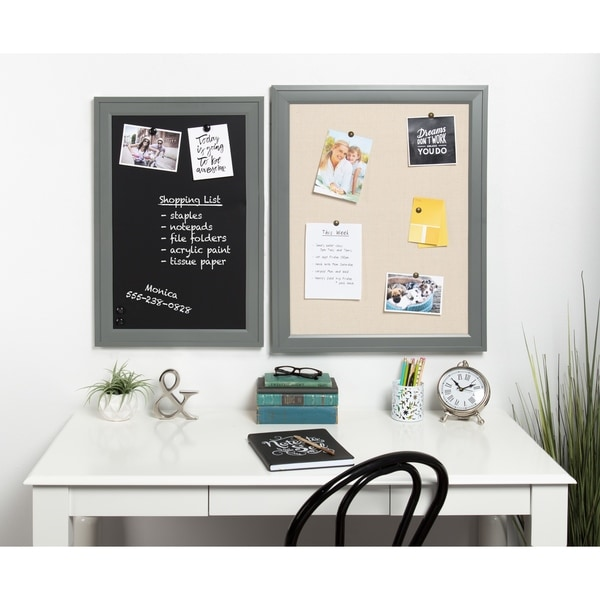 Shop Bosc Linen Fabric Framed Pinboard - Free Shipping On Orders ...