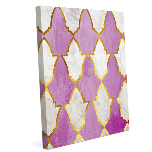 'Lavender and Marble Tiles' Canvas Wall Graphic