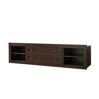 SmartStuff Classics 4.0 Storage Unit with Side Rail Panel in Cherry Finish