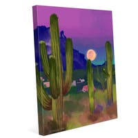 'Rising Moon in the Desert' Wrapped Wall Graphic on Canvas