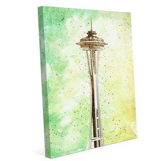 'Space Needle Green' Wall Graphic on Canvas
