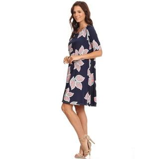 Women's Large Floral Short Dress