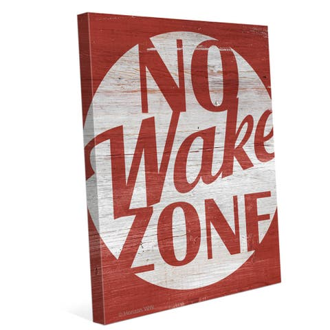 'No Wake Zone Red' Canvas Wall Graphic
