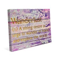 Wanderlust Definition - Gold' Canvas Wall Graphic
