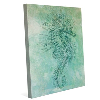 'Turquoise Seahorse' Canvas Wall Graphic